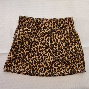 3t Leopard print mini skirt
